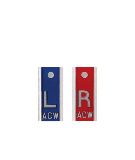 Aluminum Markers – 1/2″ L & R – With Initials