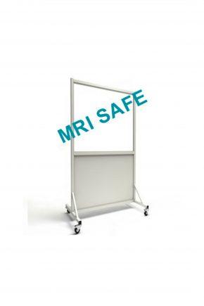 MRI-Safe Mobile Leaded Aluminum Barrier with 76.2cm x 122cm Window
