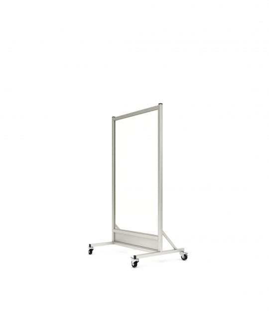 Mobile Leaded Barrier with 152.4cm x 76.2cm Window