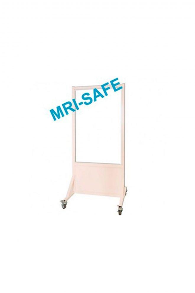 MRI-Safe Mobile Leaded Aluminum Barrier with 122cm x 76.2cm Window