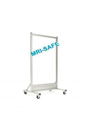 MRI-Safe Mobile Leaded Aluminum Barrier with 152.4cm x 76.2cm Window