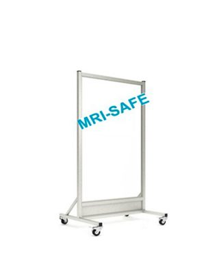 MRI-Safe Mobile Leaded Aluminum Barrier with 152.4cm x 76.2cm Window