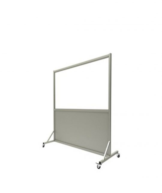 Mobile Leaded Barrier with 91.5cm x 182.9cm Window