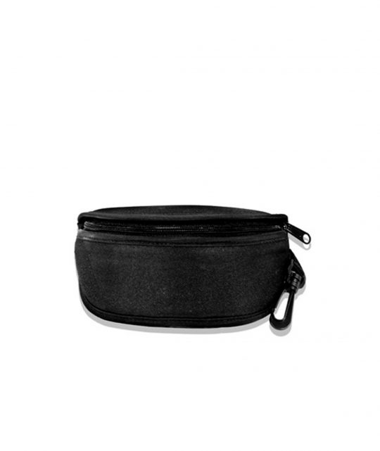 Wiley X Black Zipper Top Half Oval Case