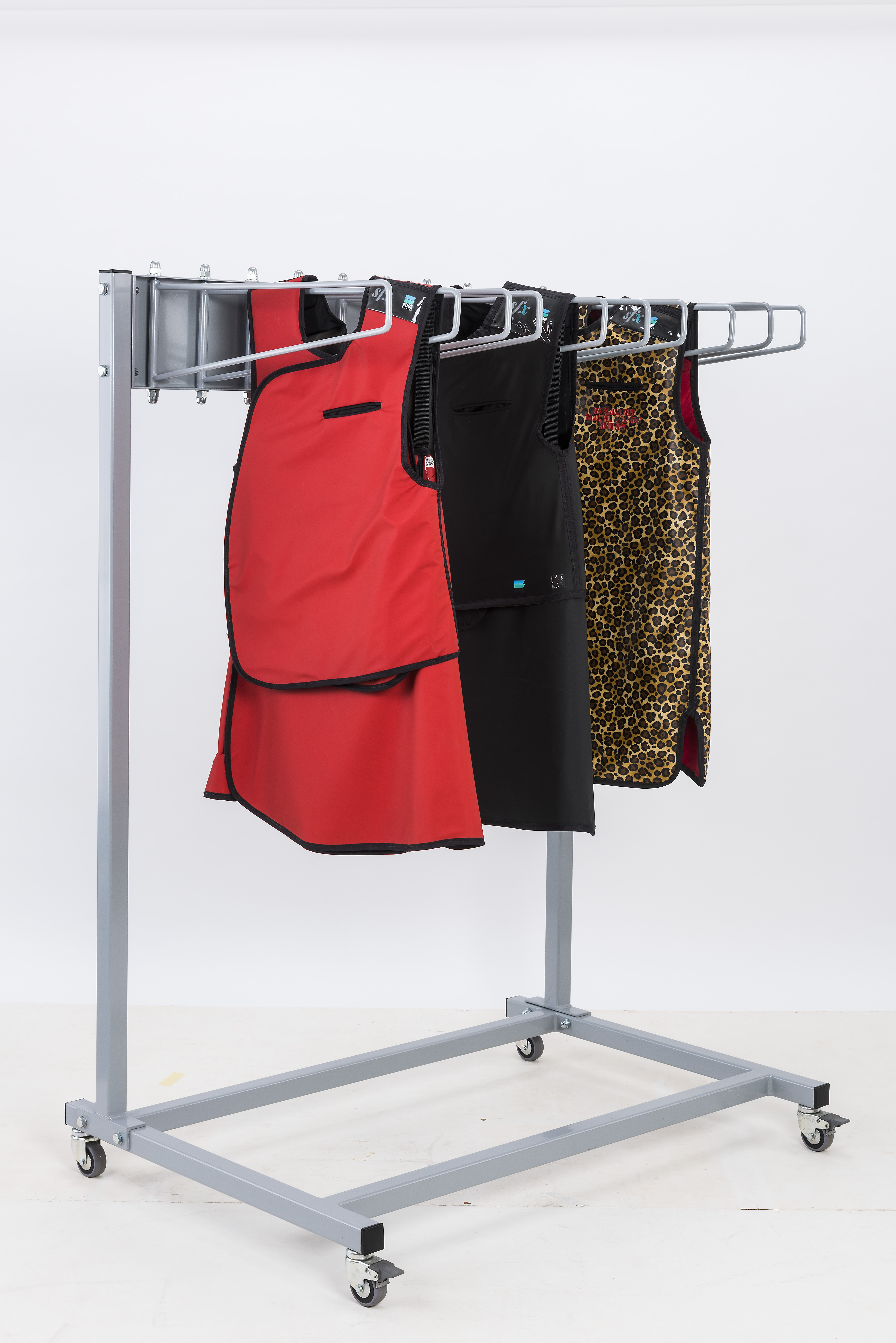 Garment Style Mobile 10 Arm Apron Rack