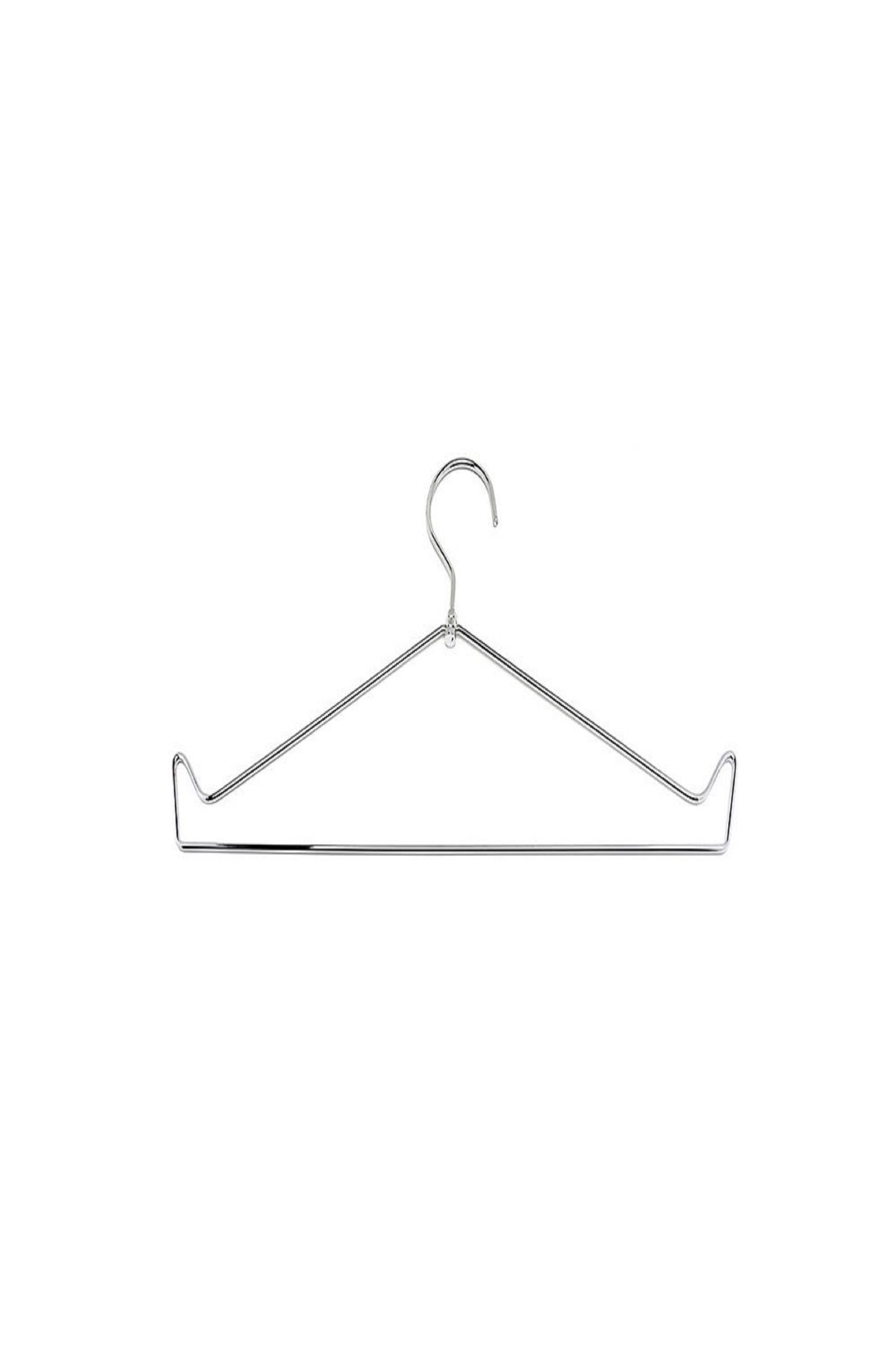 Open Top Chrome Wire Apron Hanger