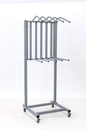 Dual 5 Arm Apron Rack