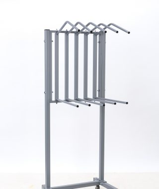 Dual 5 Arm Apron Rack